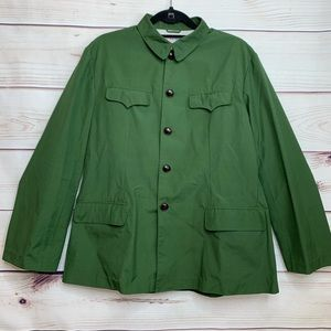 Western Flare Ladies Green Button Down Jacket EUC